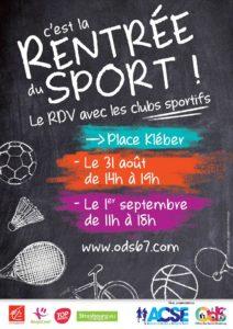Rentrée des sports à Strasbourg le 31/08 et le 01/09